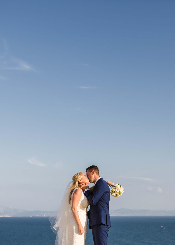 Wedding Kiss On The Beach