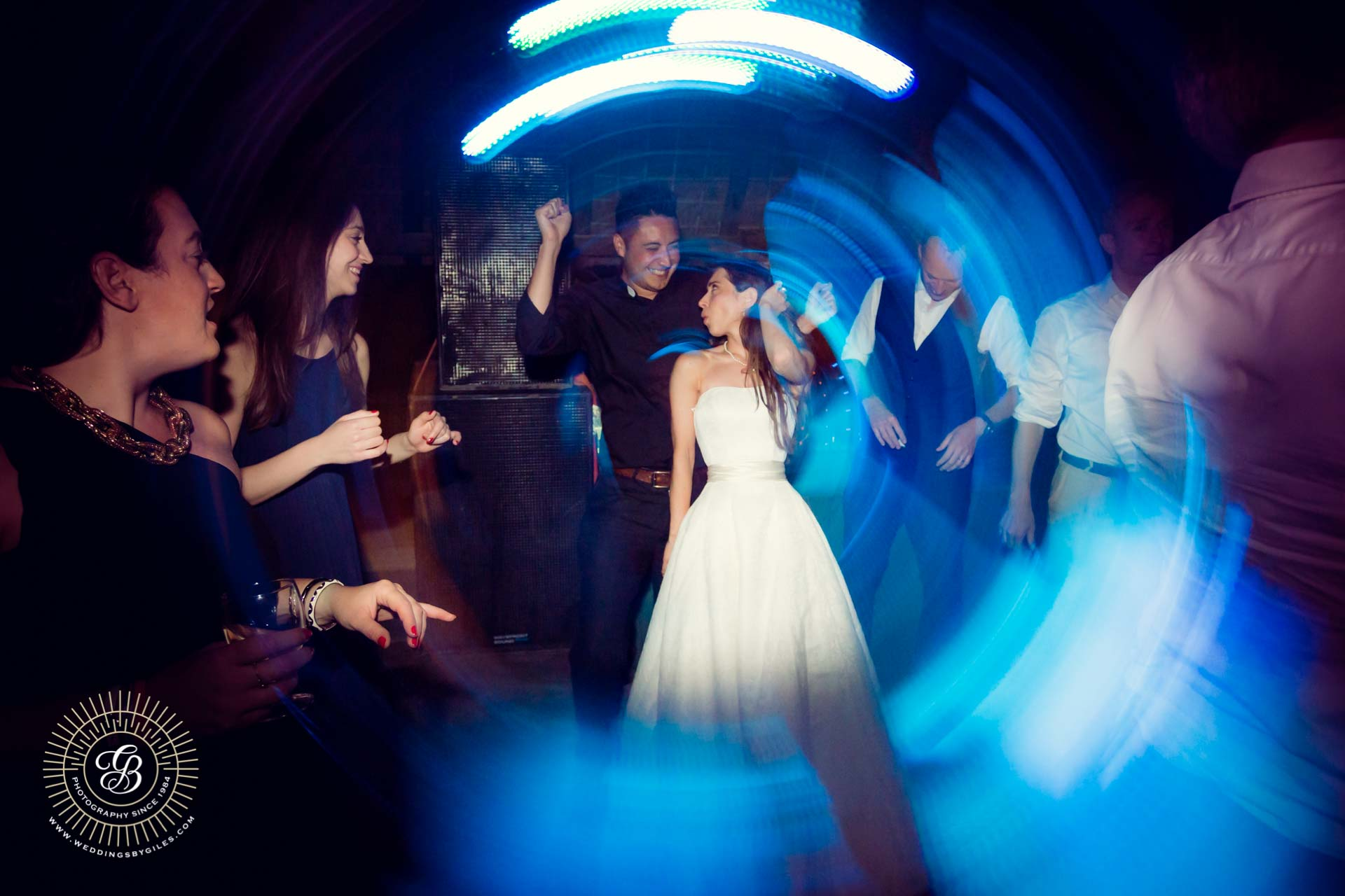 bride dances with the vicar