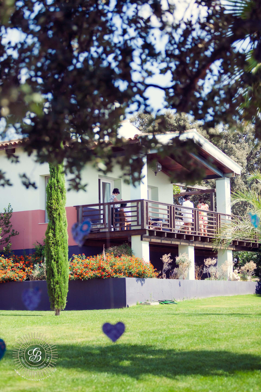 The lodge veranda