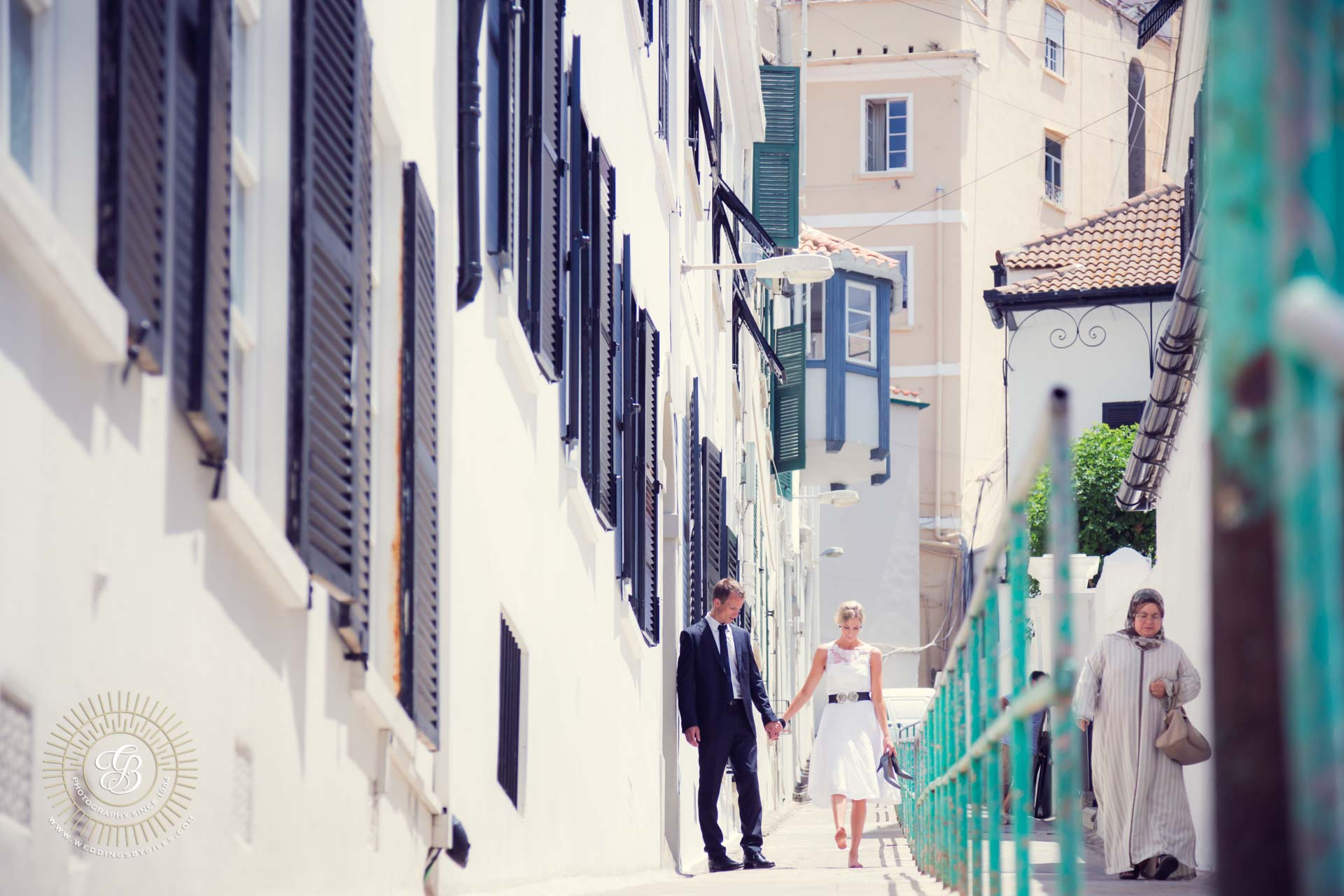 Wedding Photography in The Old Town, Gibraltar