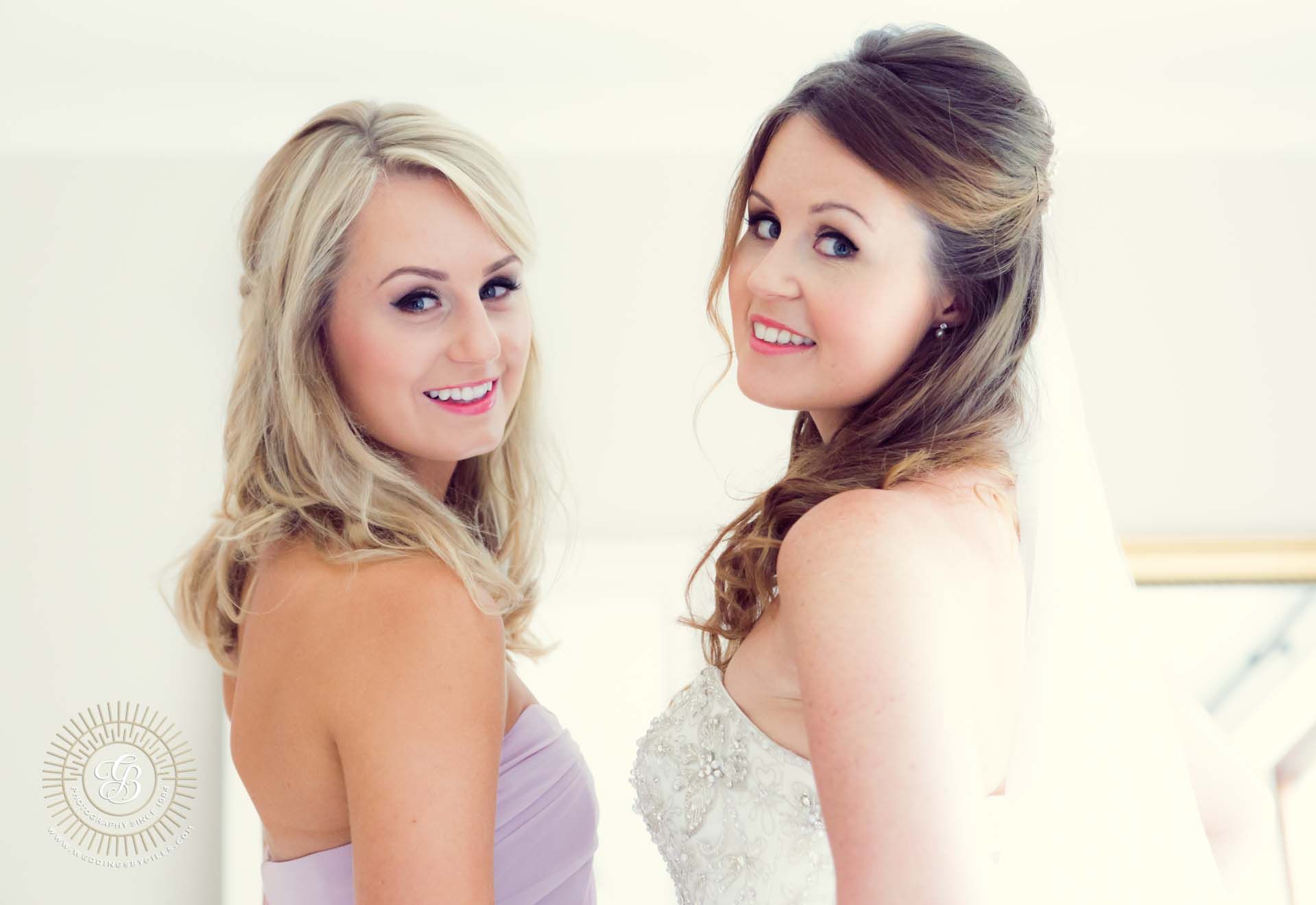 Portrait of Bride and her sister bridesmaid
