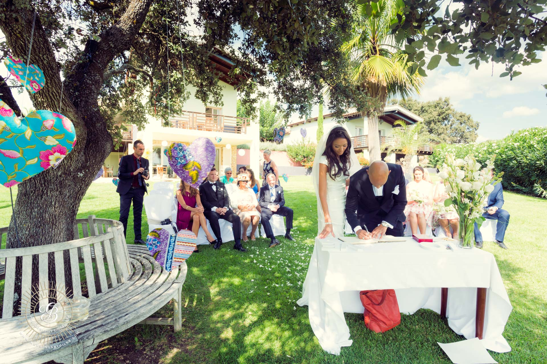 Signing of the wedding register