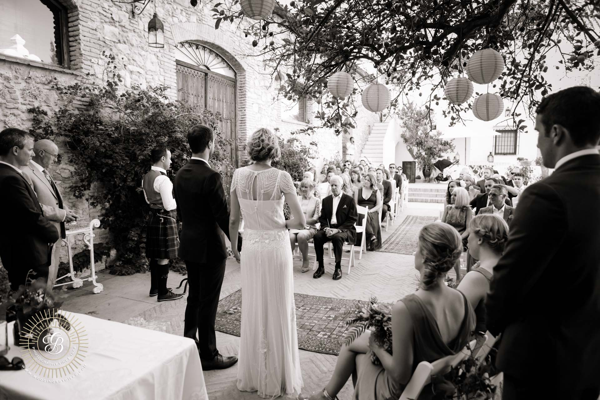open air wedding ceremony