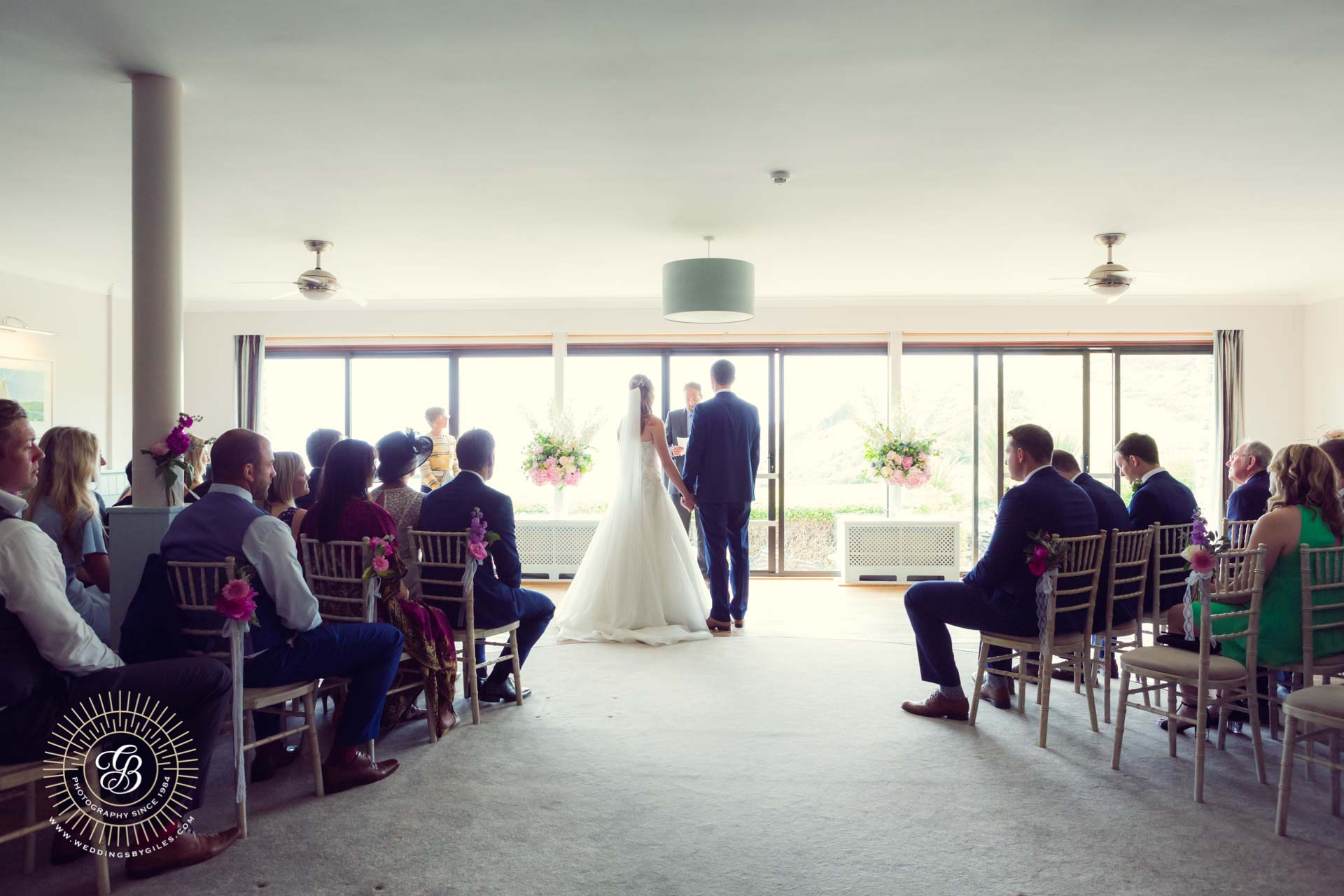 wedding ceremony at Soar Mill Cove Hotel