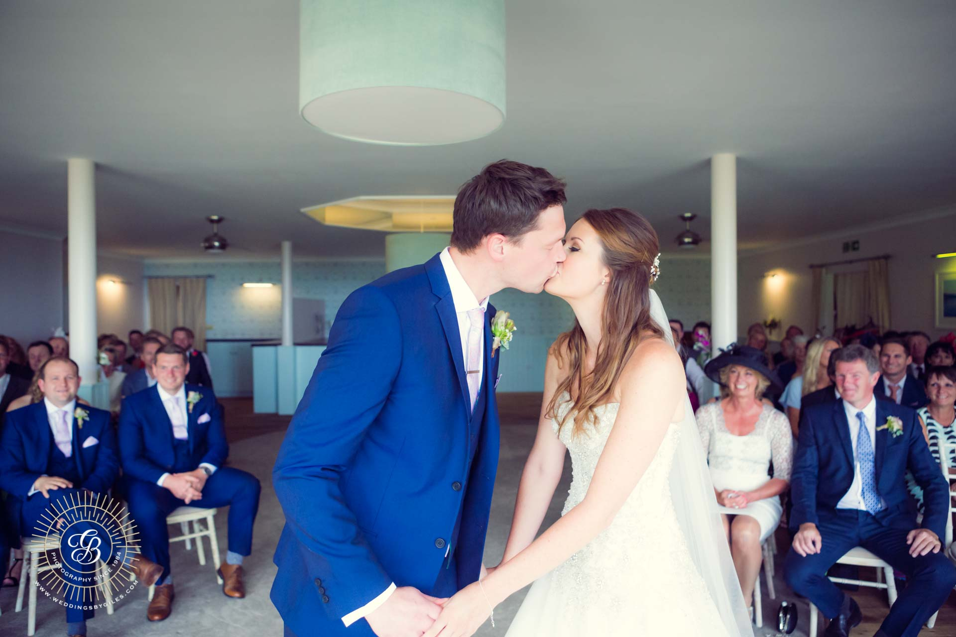 The wedding kiss in Slacombe
