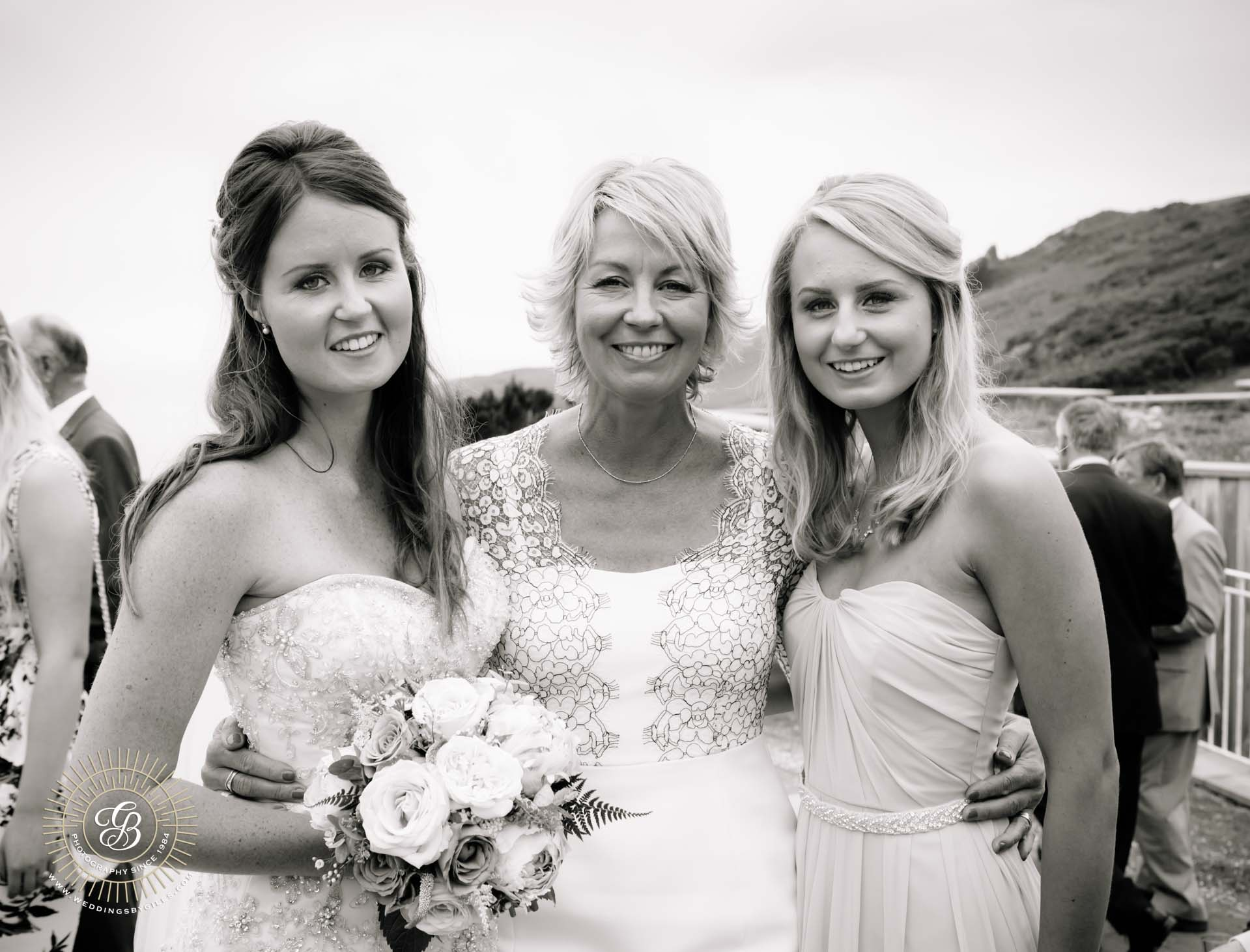 Mother of the bride and her daughters