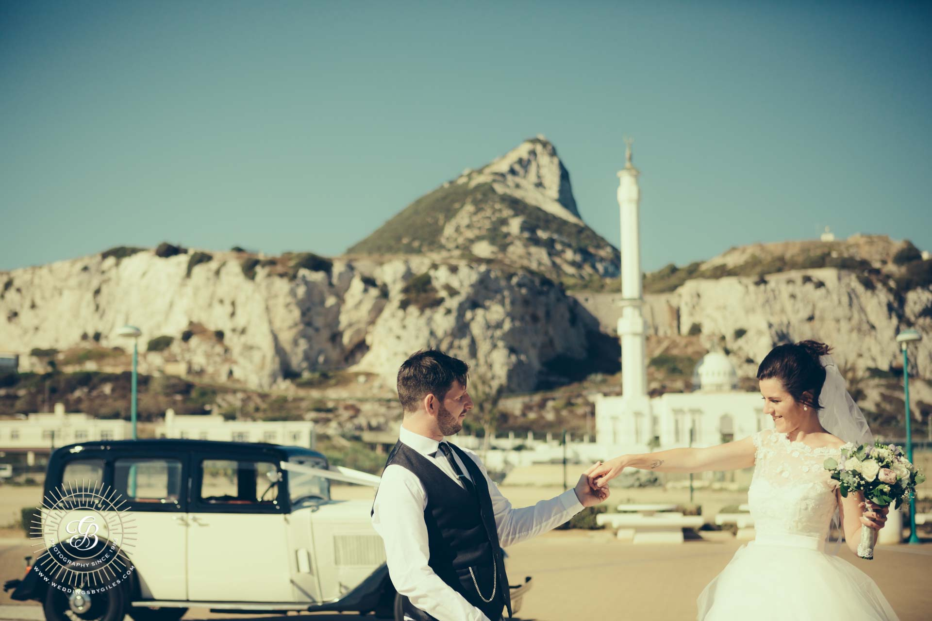 wedding portrait at Europa Point