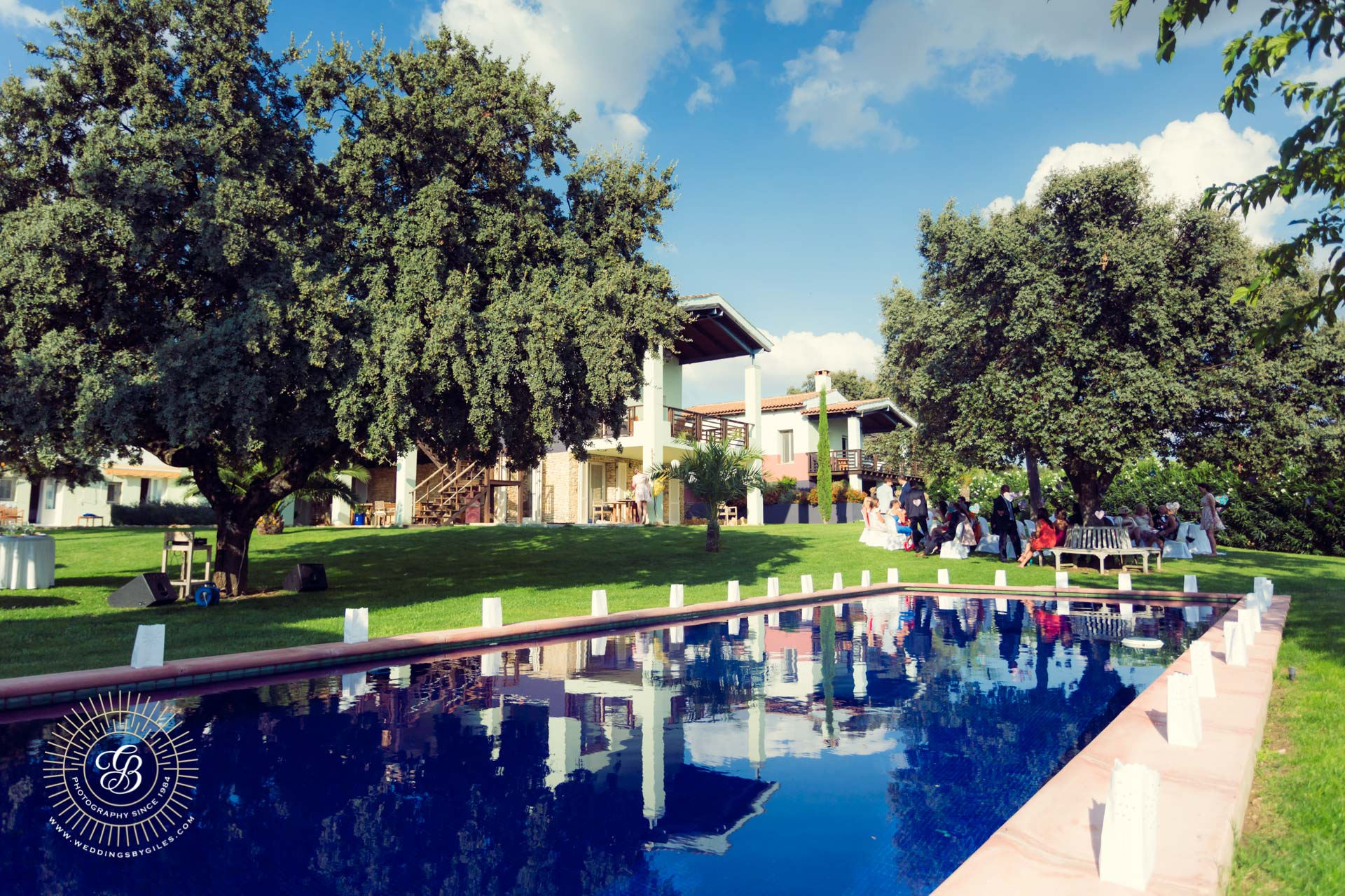 Sunny pool side wedding in spain