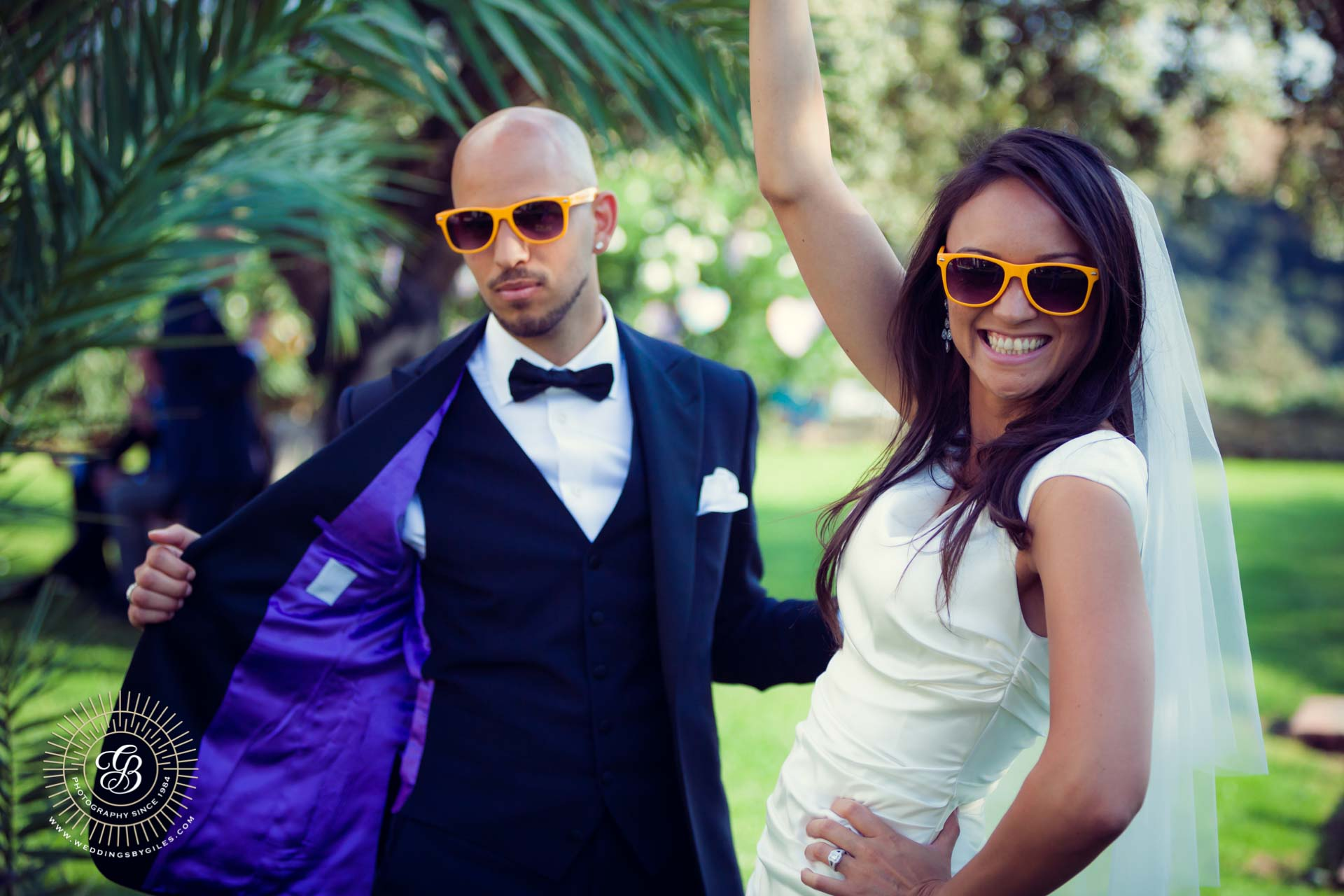 themed wedding sunglasses