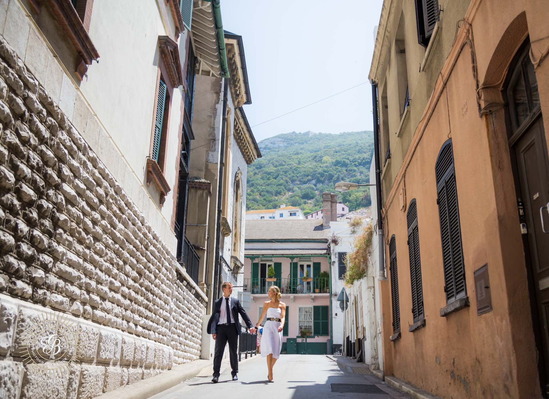 wedding photo shoot in only town Gibraltar