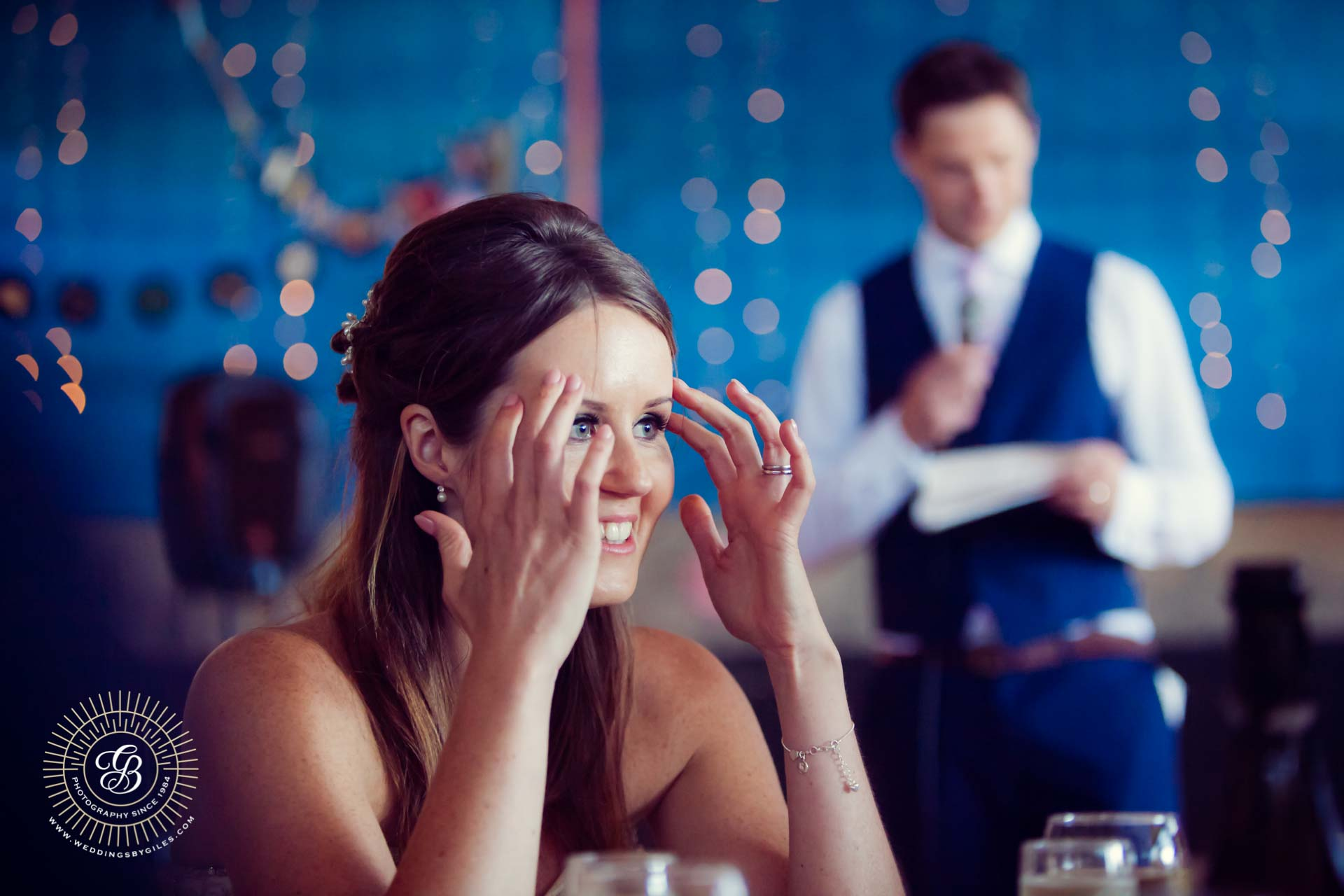 brides recation to grooms speach