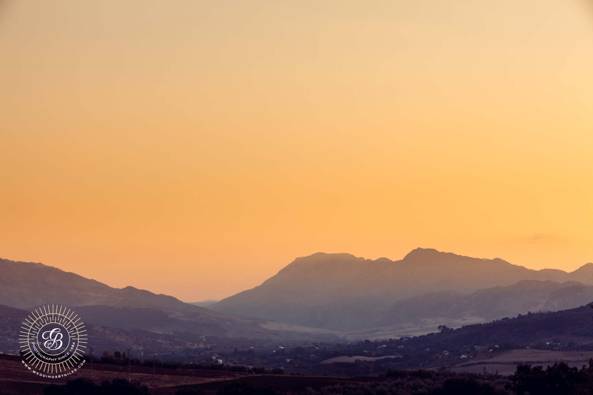 Hills of andalucia at sunset
