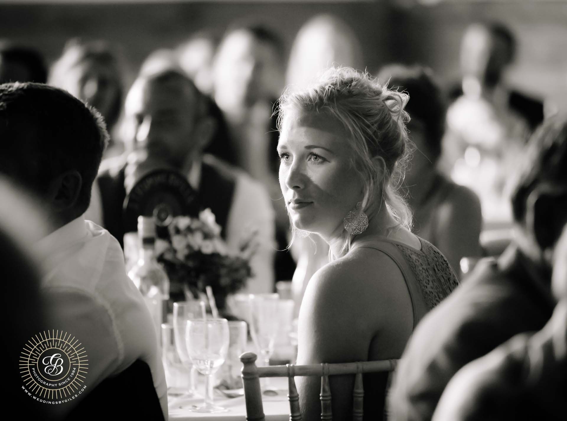 wedding guest at reception