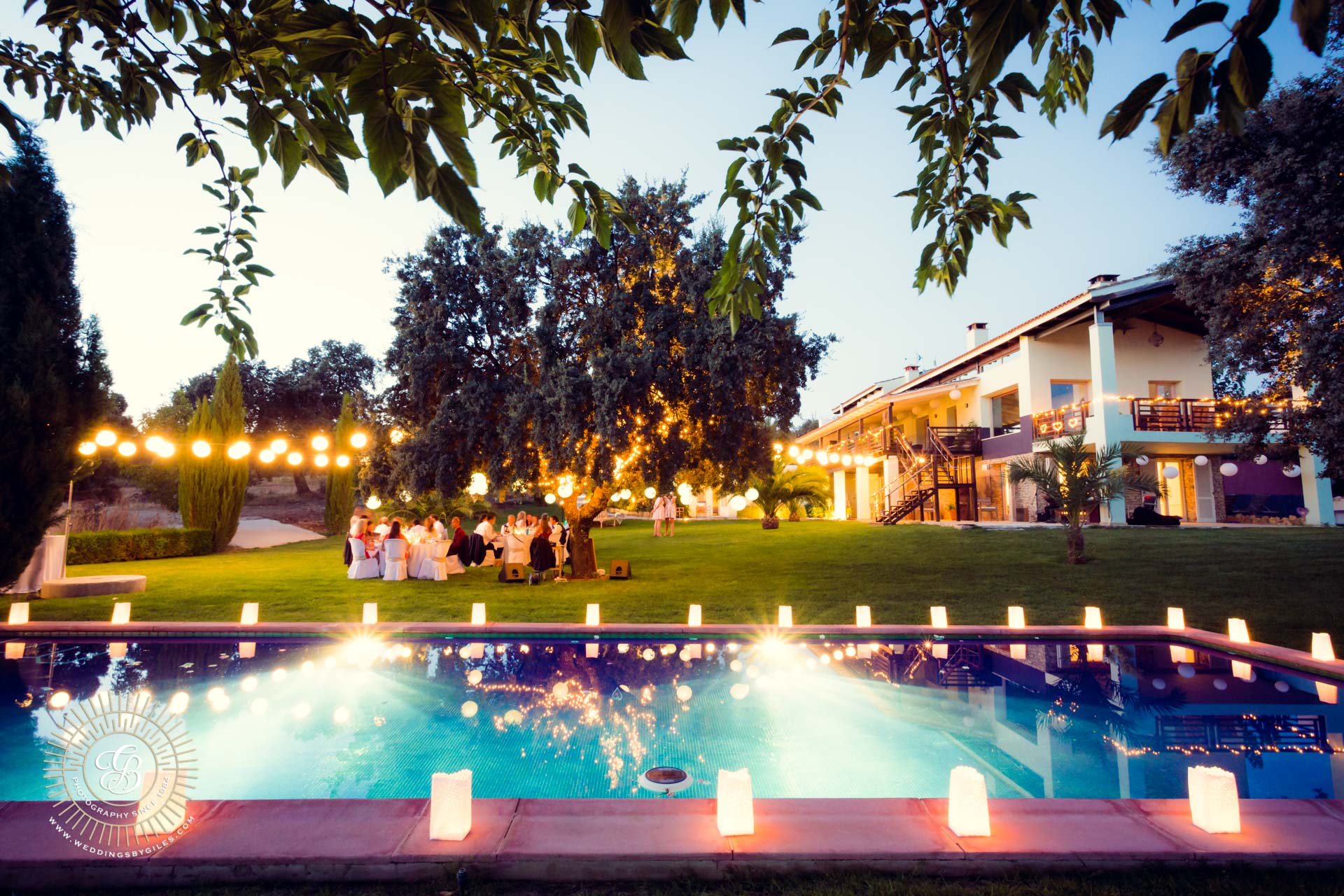 Pool side garden wedding in Andalucia spain