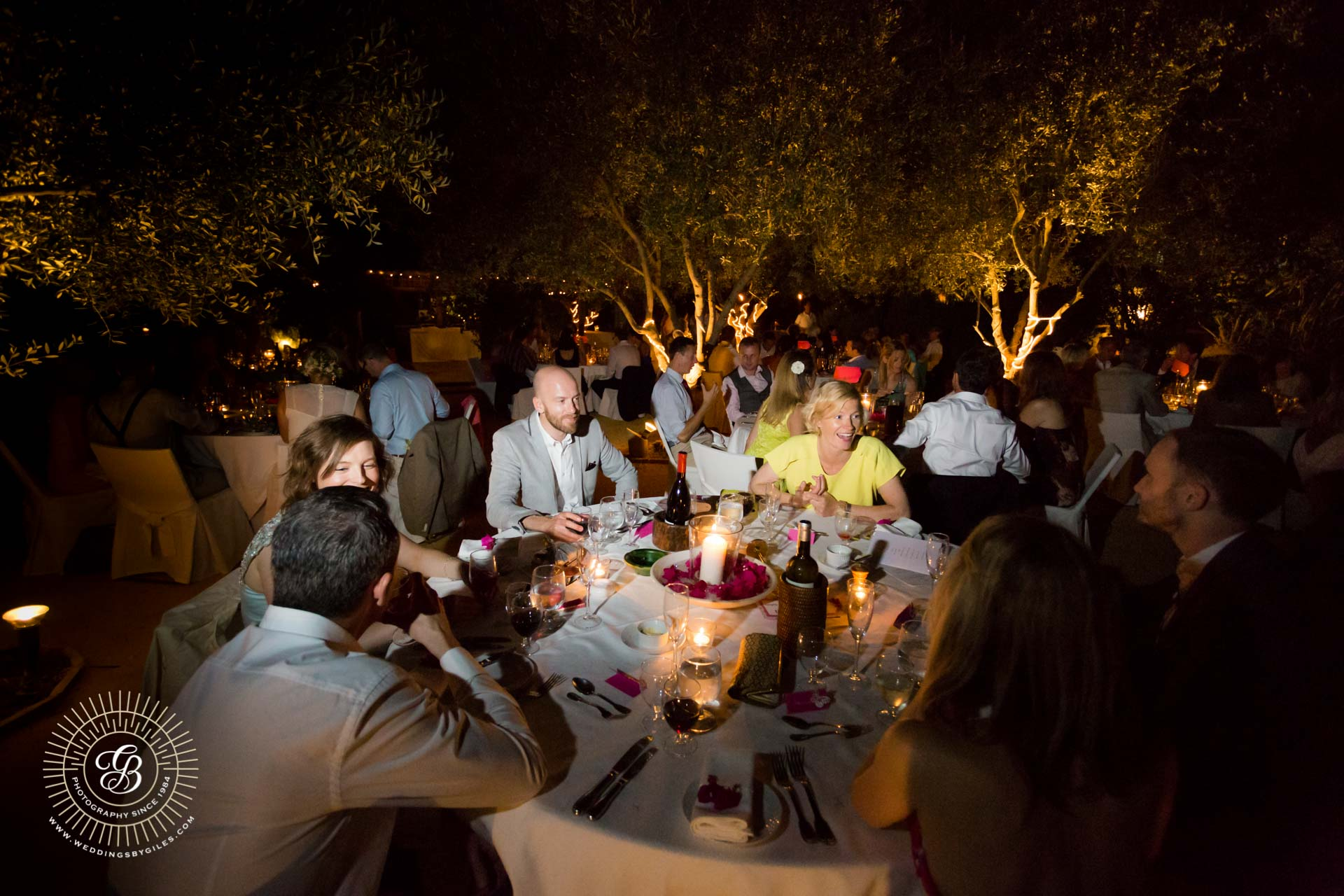 wedding reception at Hacienda de san Rafael