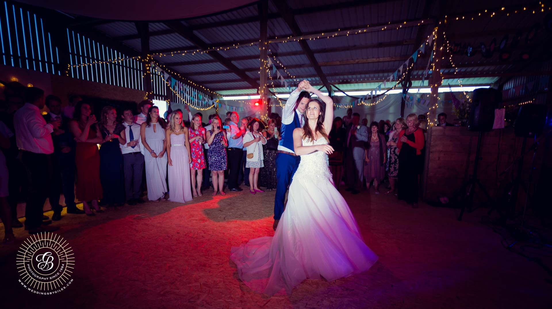 barn wedding first dance