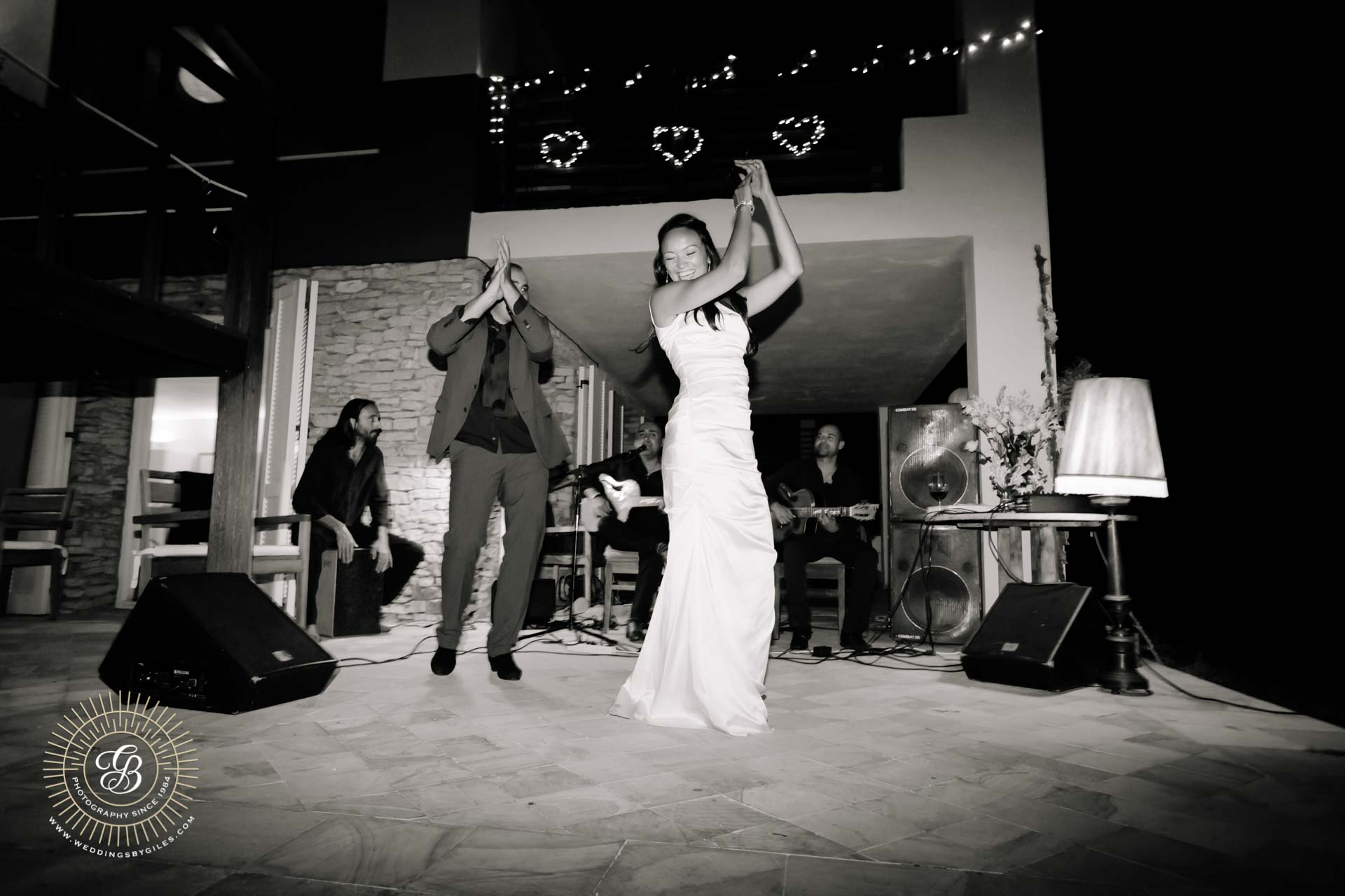 bride tries flamenco
