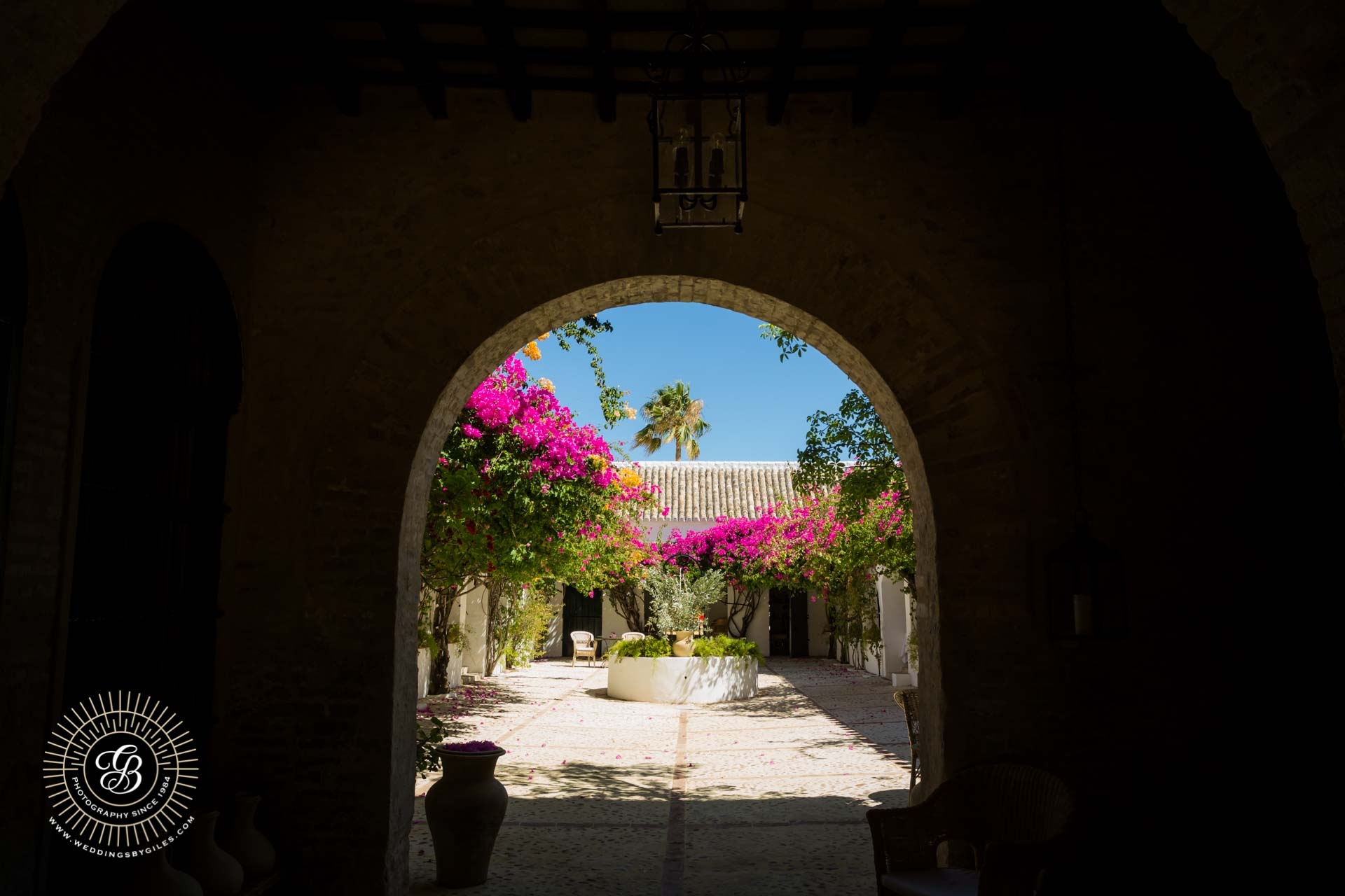 the courtyard at hacenda de san rafael