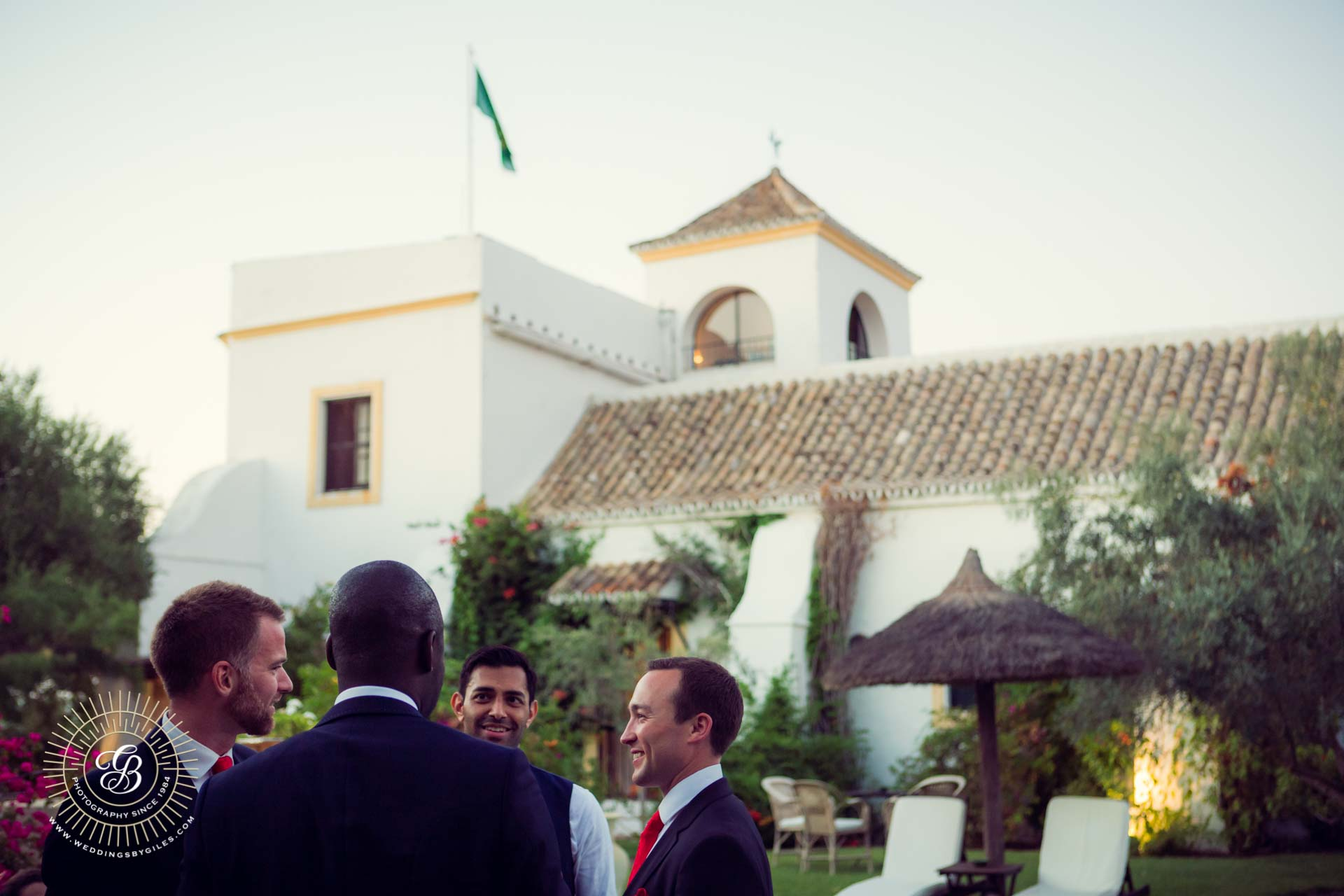 garden wedding party at hacienda de san rafael