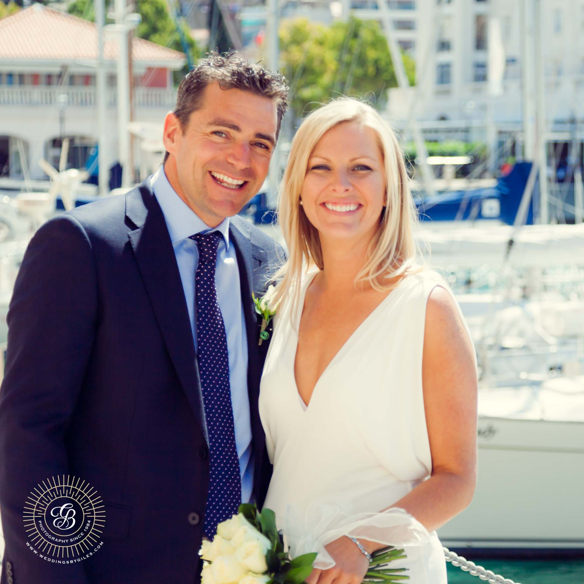 Wedding portrait in Marina