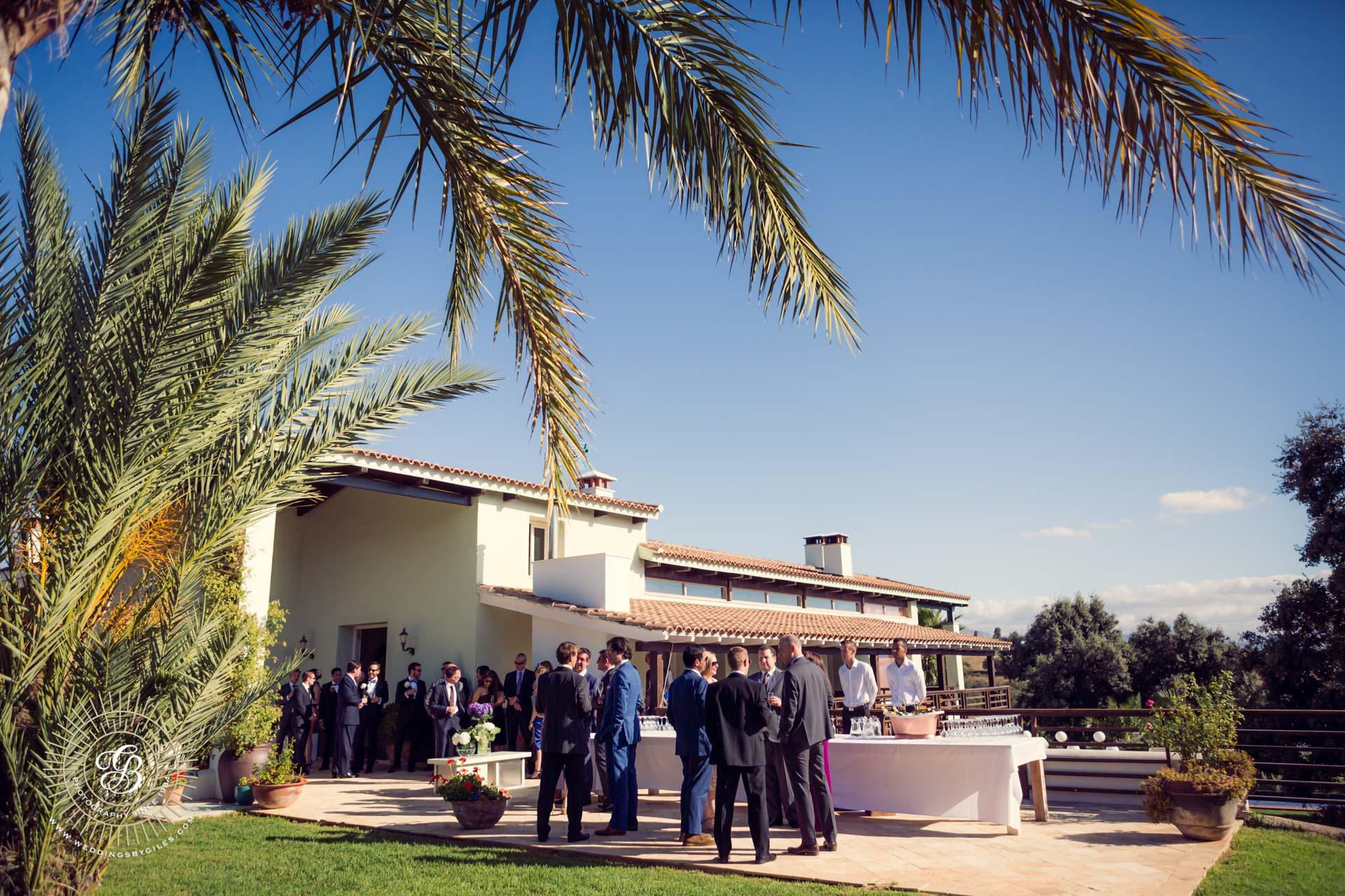 villa wedding in spain