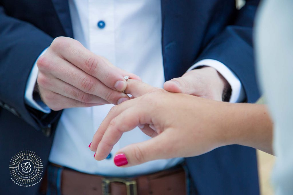 placing the wedding ring