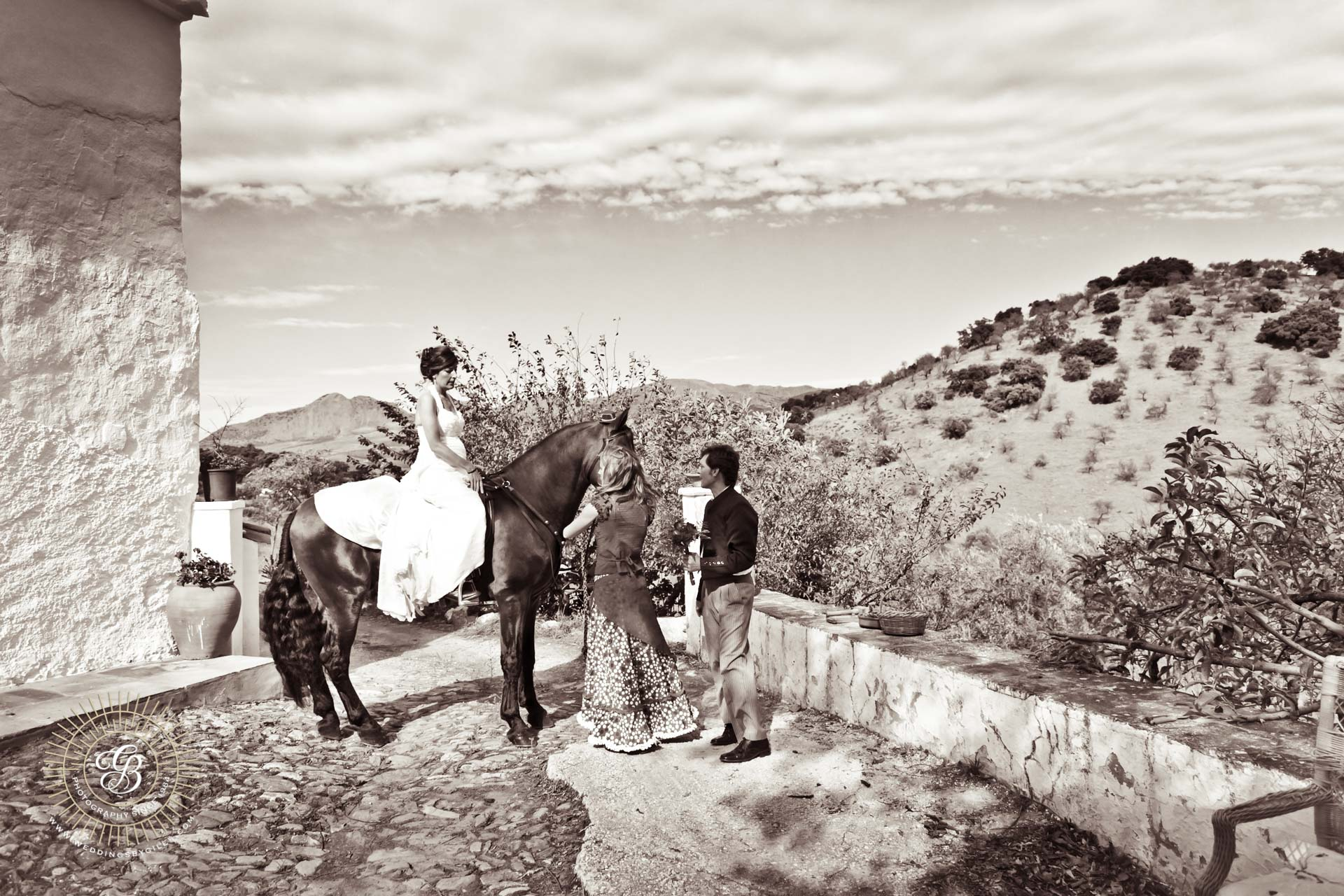 Andalucian wedding moment