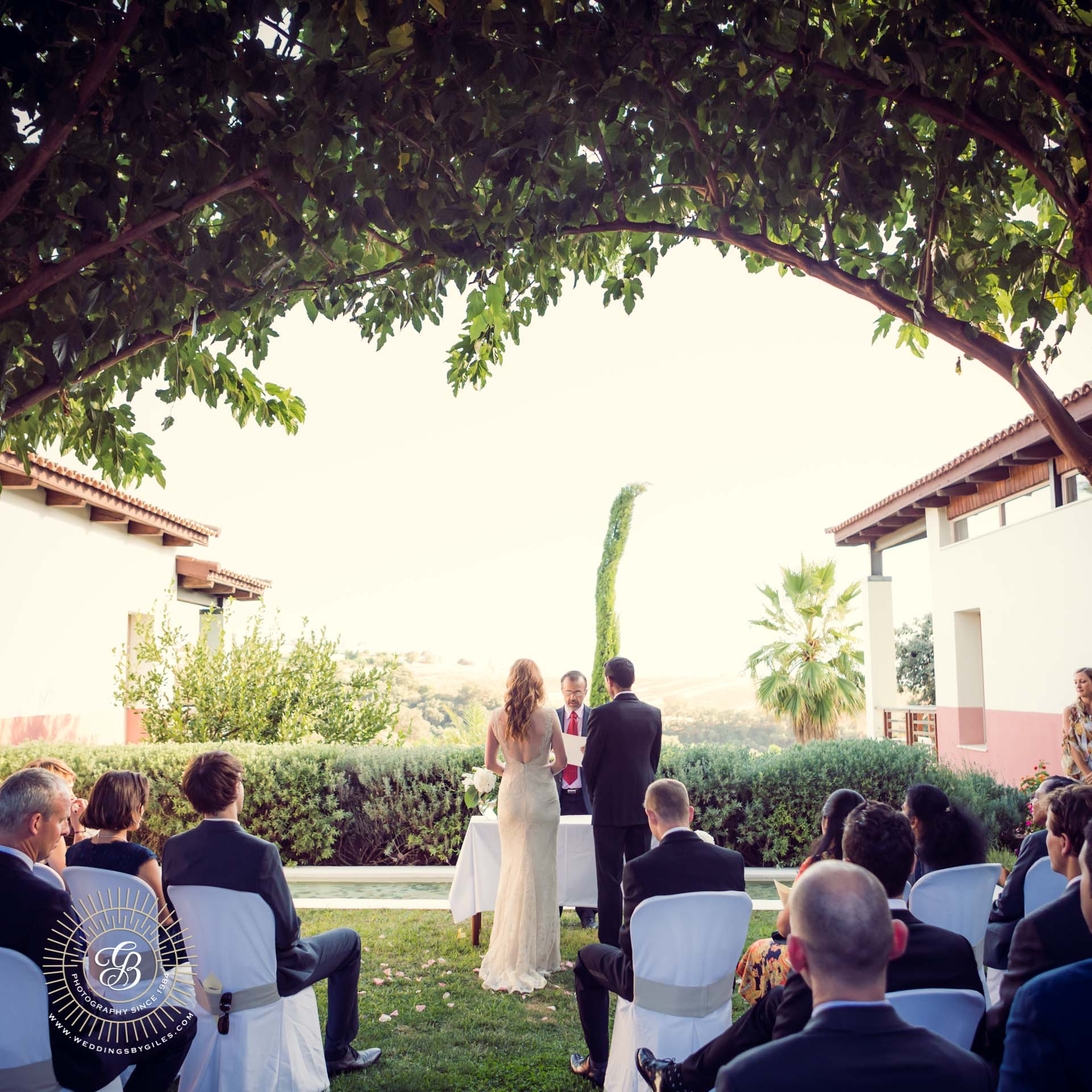wedding ceremony at the lodge