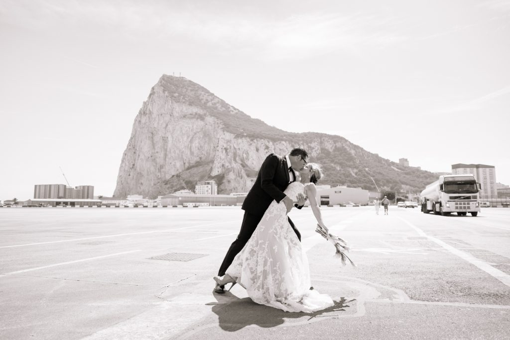 Gibraltar Wedding shoot at the run way
