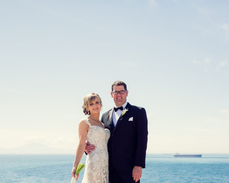 Wedding Portrait over the straits of Gibraltar