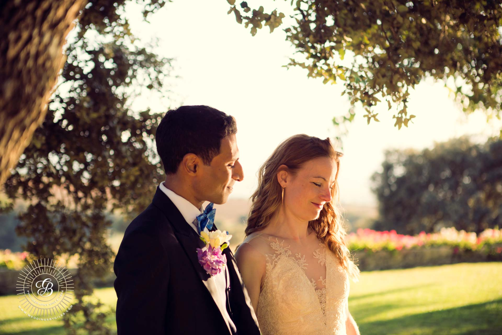 evening wedding portrait as the lodge in Andalucia