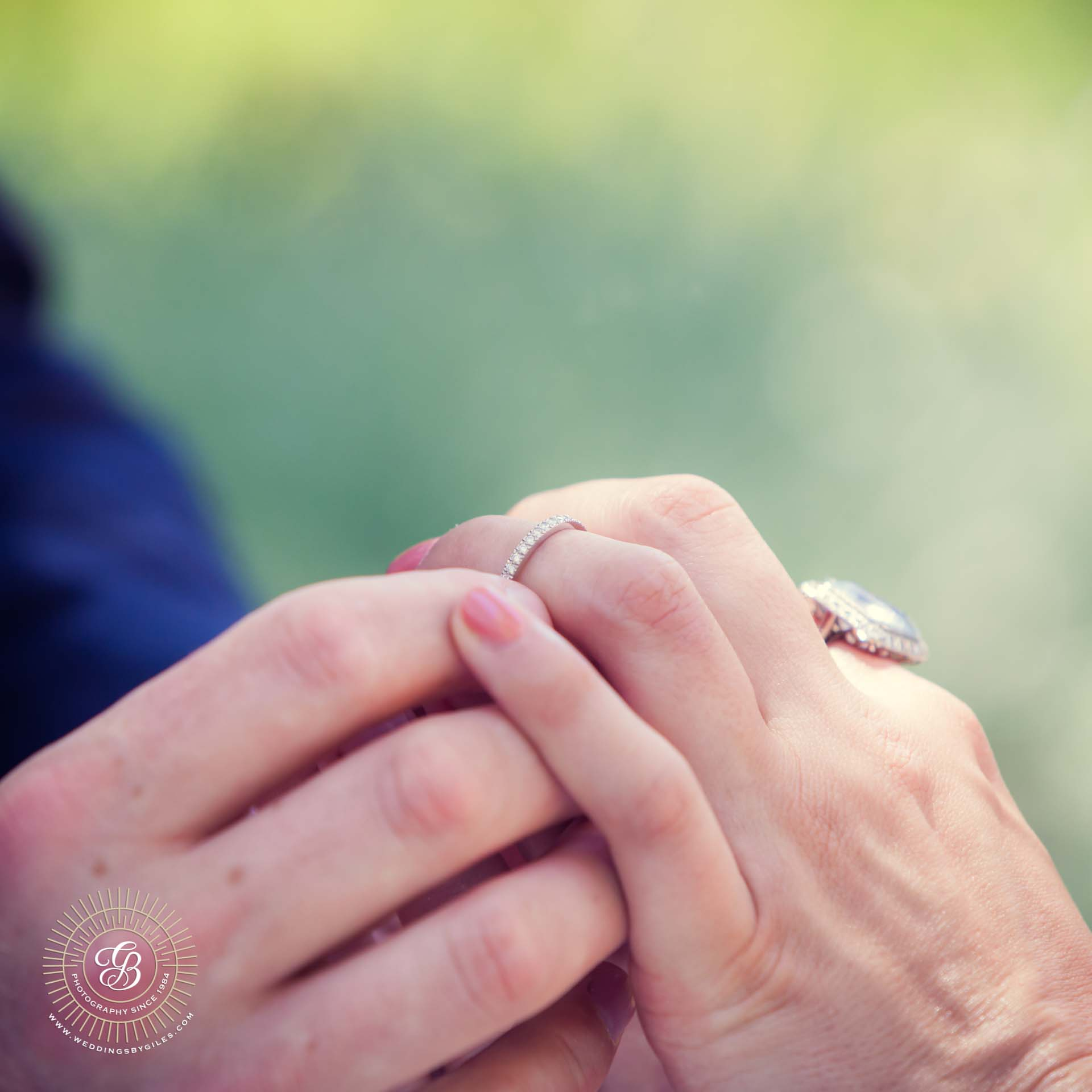 wedding ring on the brides finger