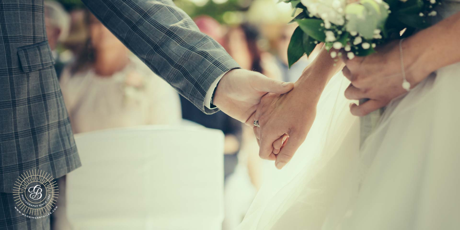 bride and groom hand in hand