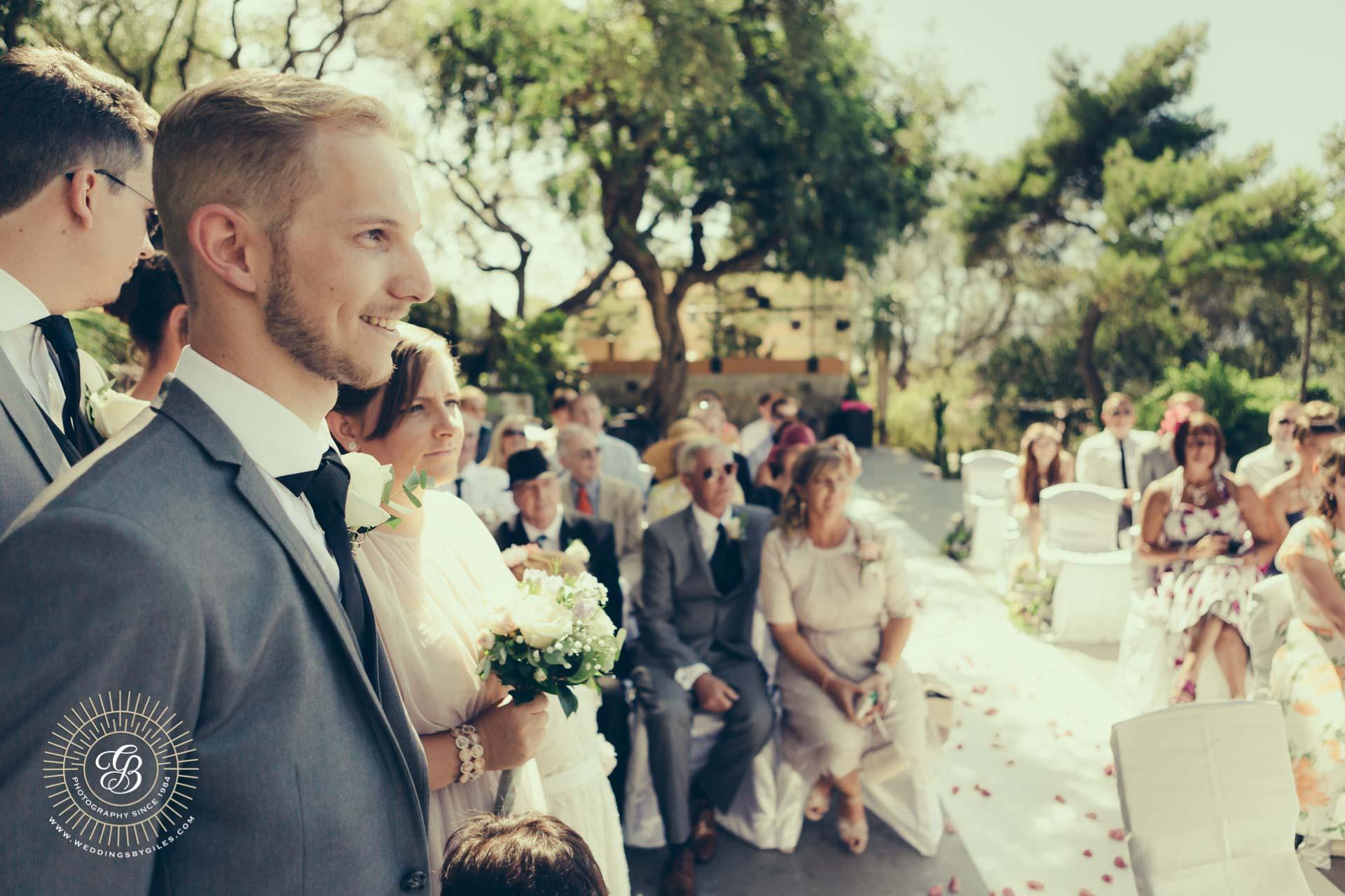 Best man at Gibraltar wedding