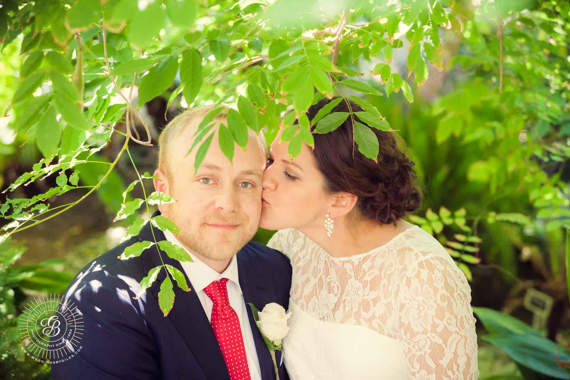 wedding portrait in the alameda gardens