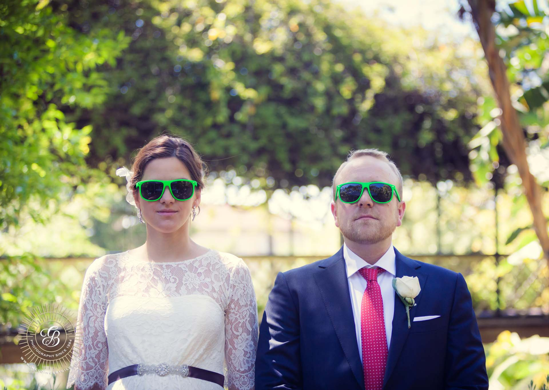 themed wedding sunglasses