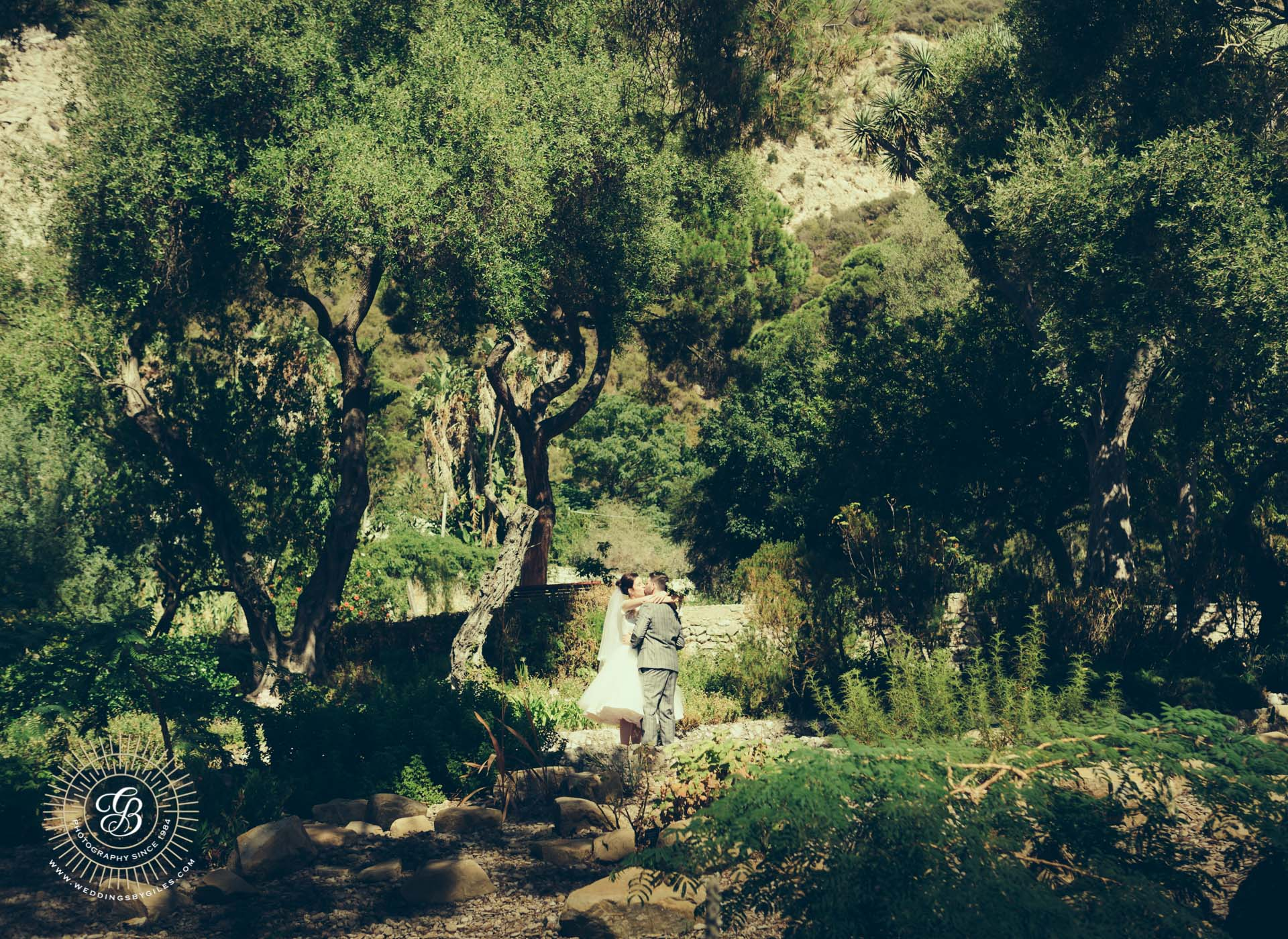 Gibraltar Garden Wedding photo shoot