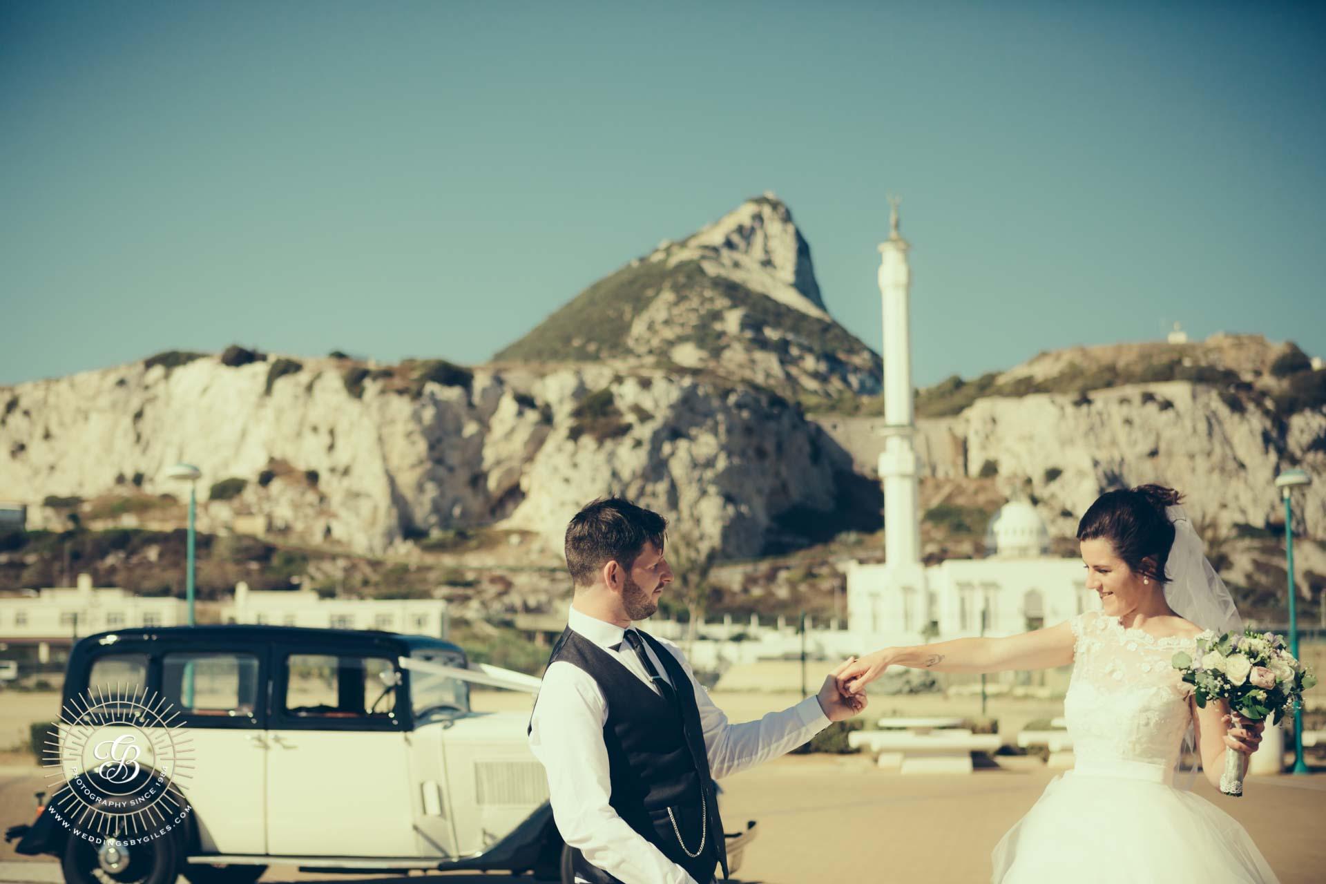 wedding portrait at Europa Point