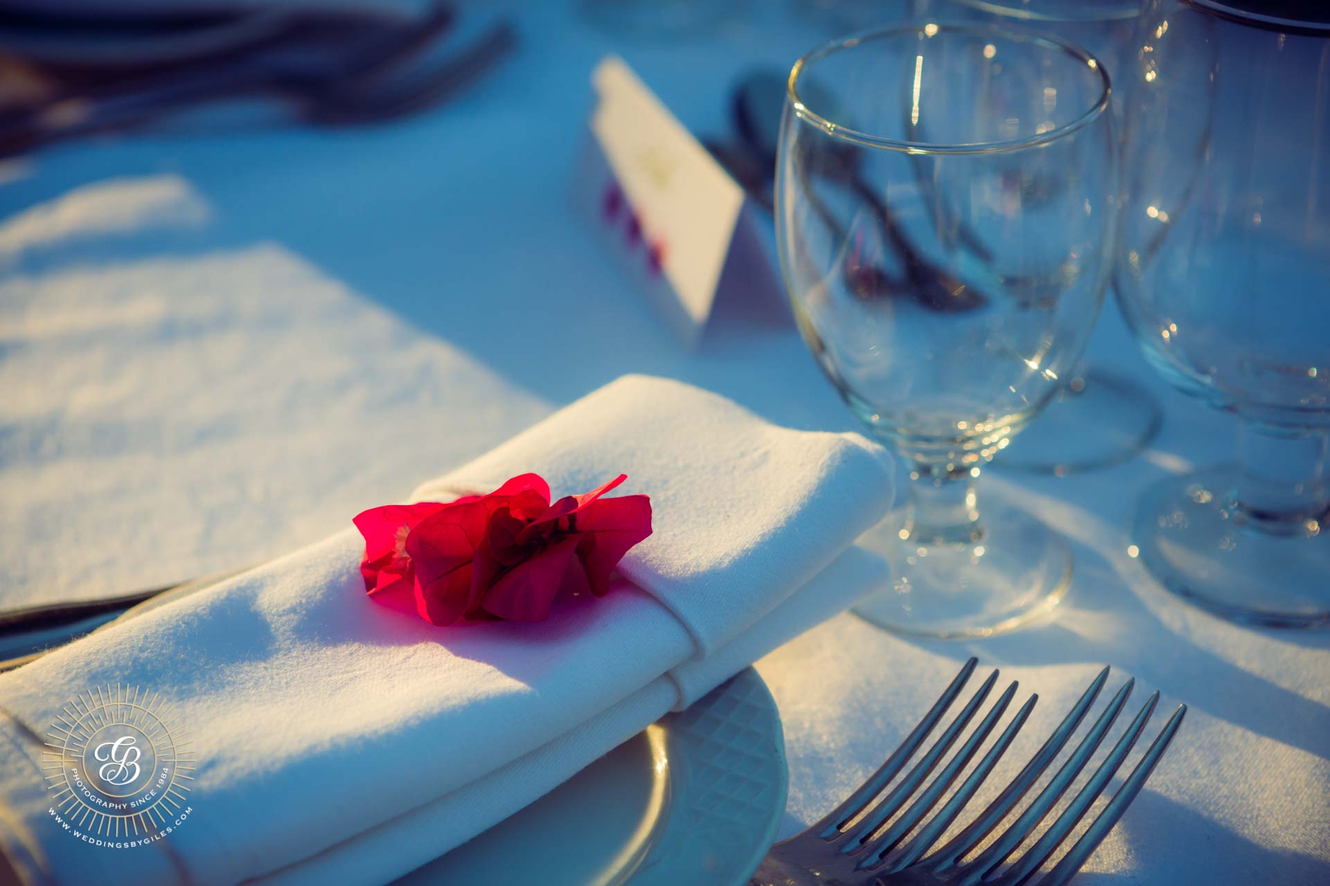 wedding table place setting