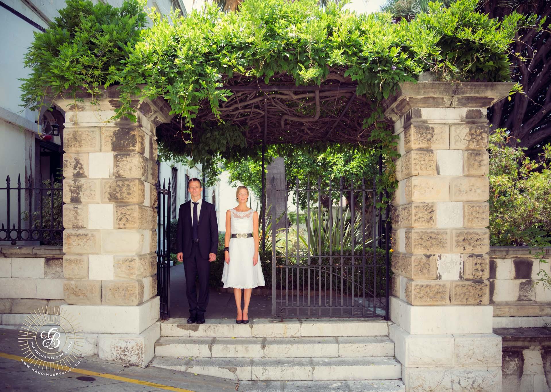 Wedding photoshoot at the Garison Library Gibraltar