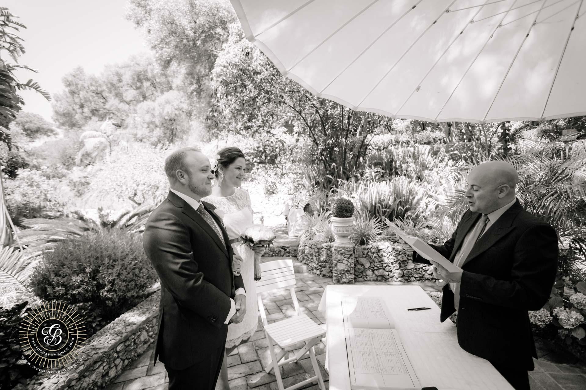 garden elopement wedding ceremony