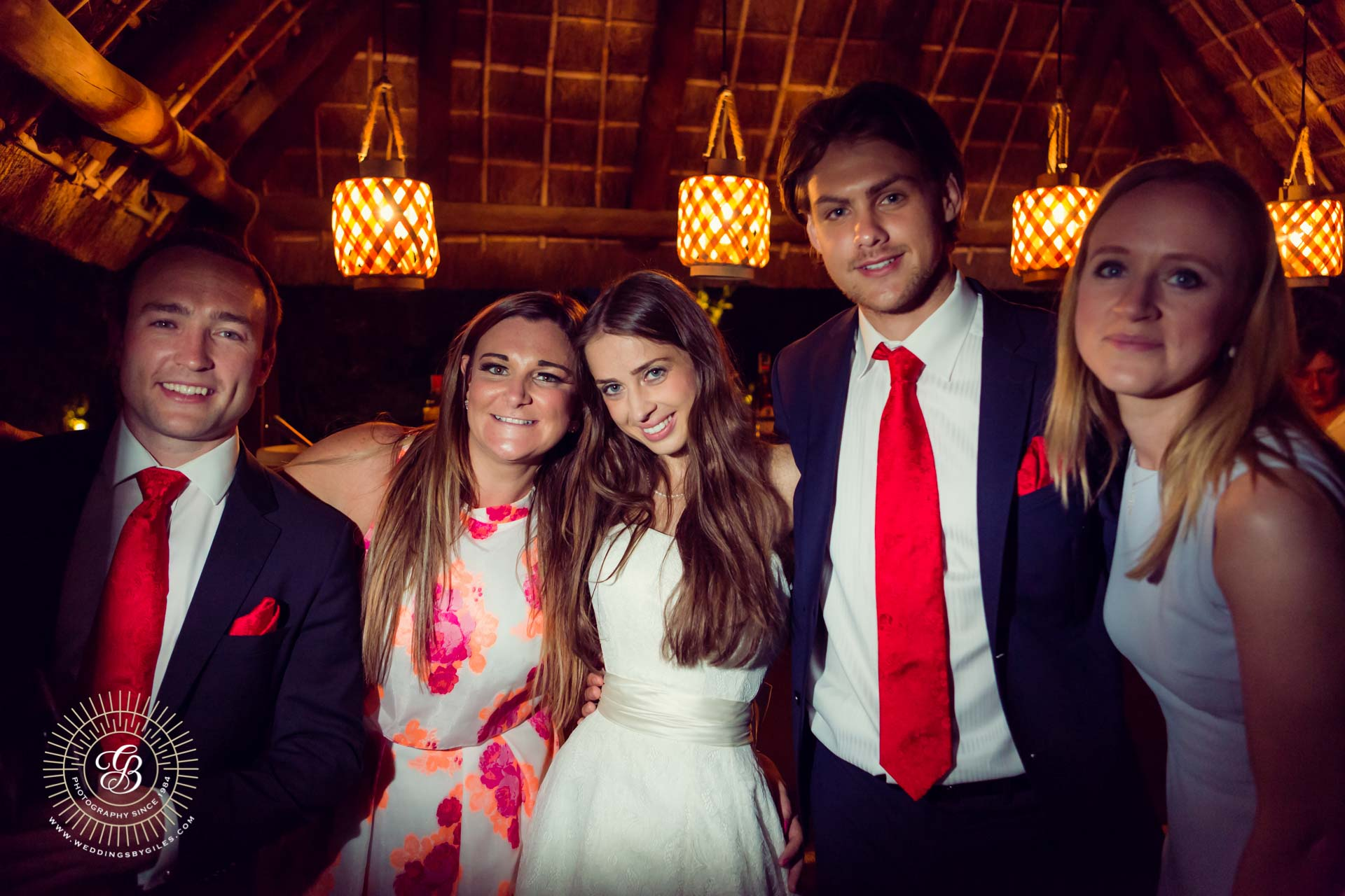wedding guests with the bride