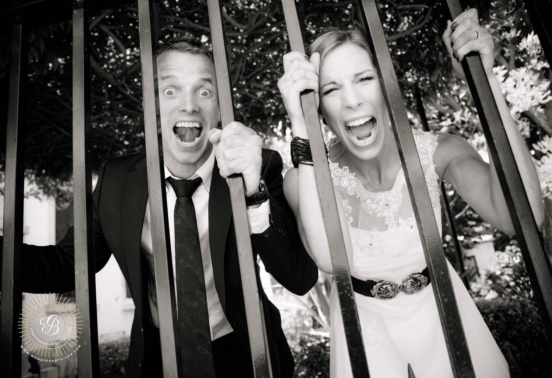 newlyweds behind bars