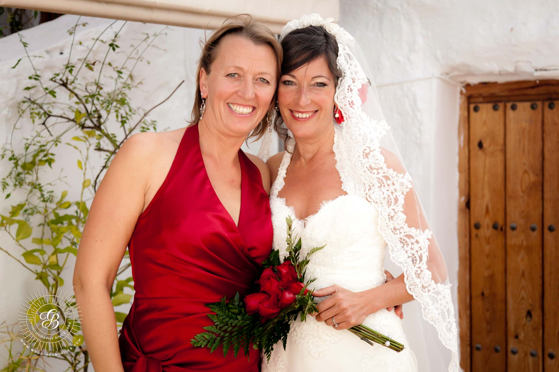 Bride with her maid or honnor
