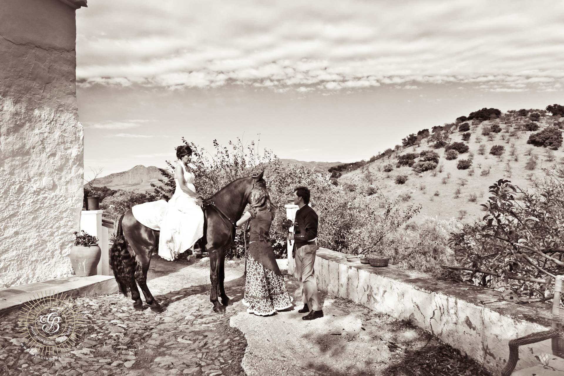 Andalucian wedding moment