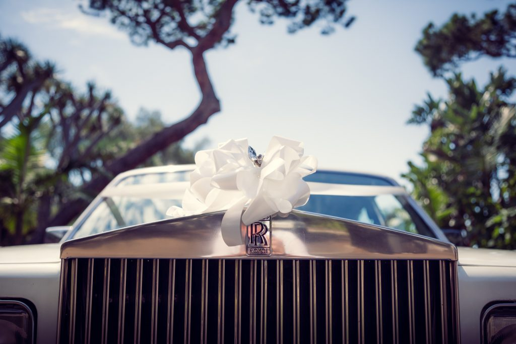 Ribbon On Rolls Royce