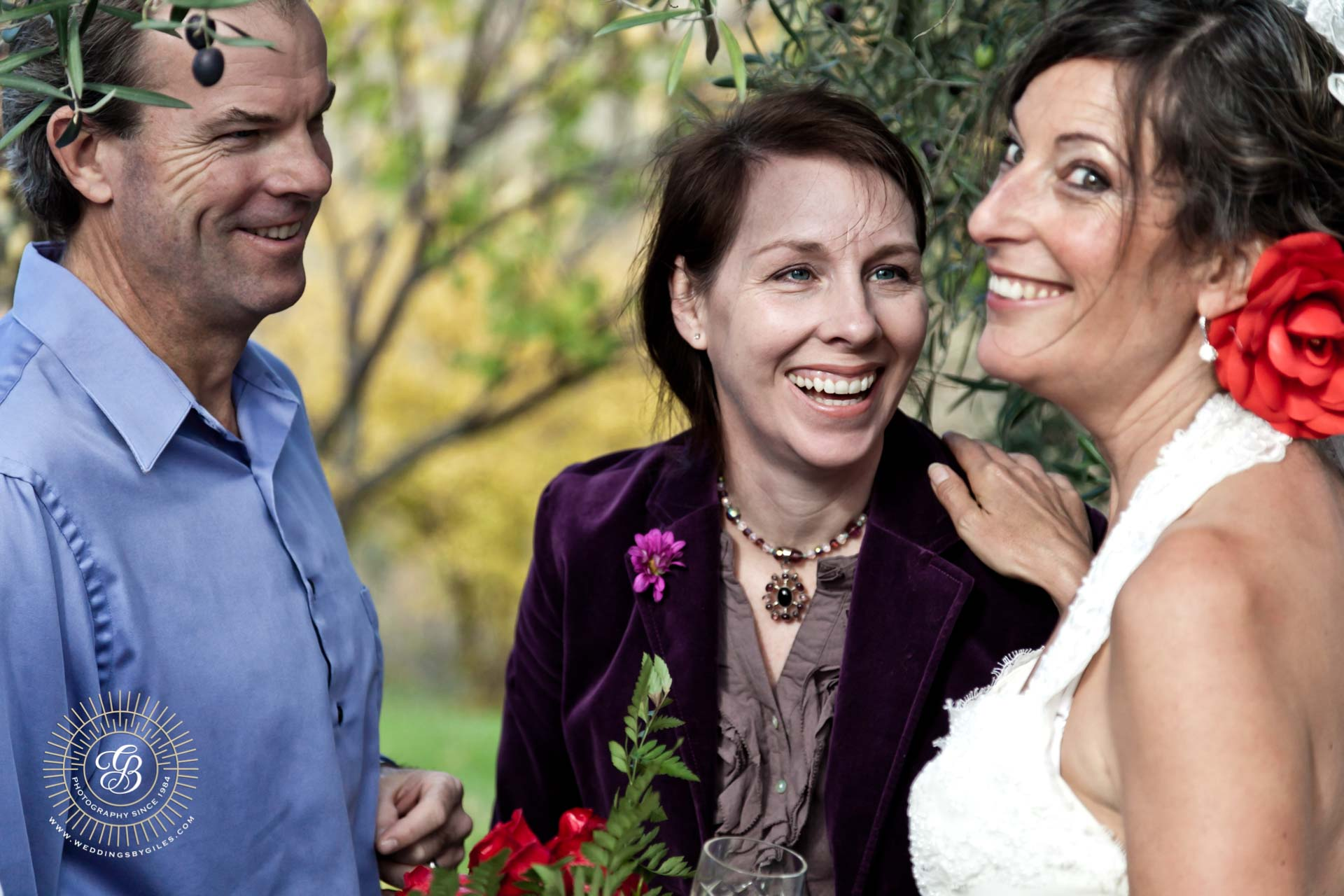 wedding laughter and smiles
