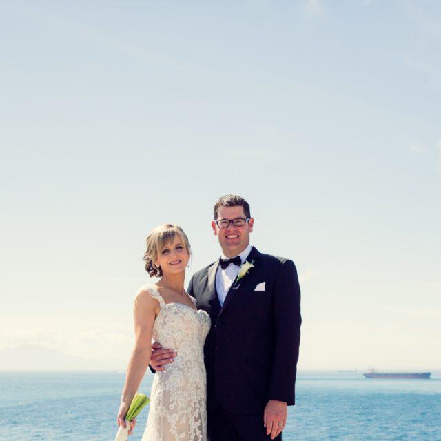 Wedding Portrait over the straits of Gibraltar