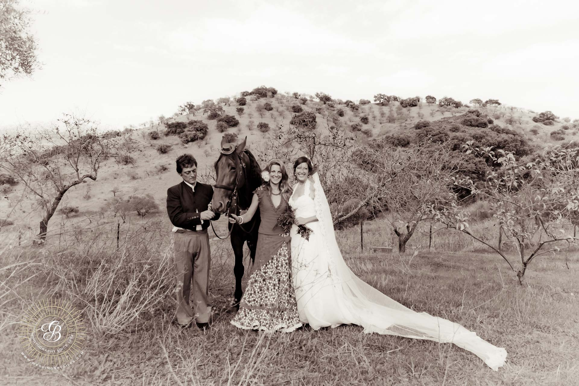 Andalucian wedding in the country side