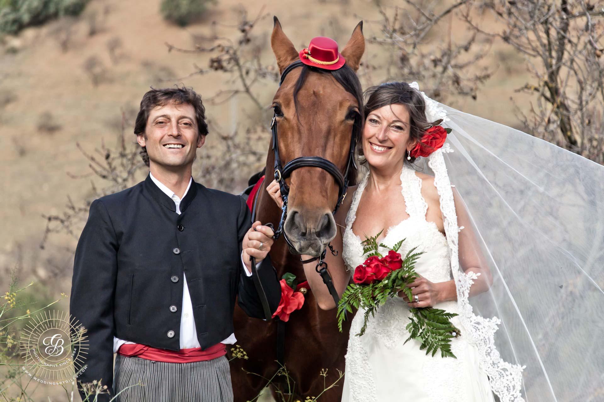wedding portrait in Andalucia